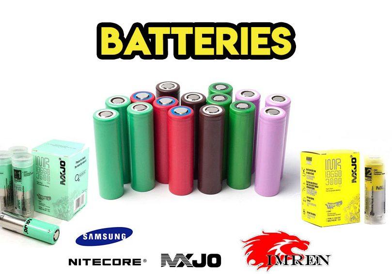Batteries - 18650 20700, 21700