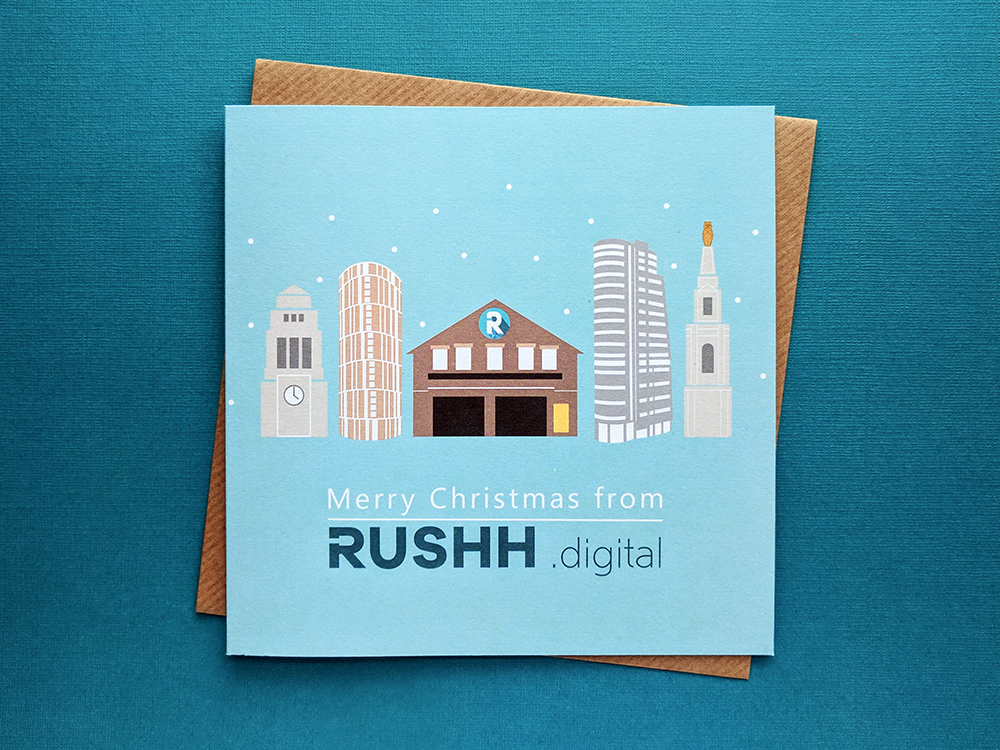 rushh digital bespoke christmas card