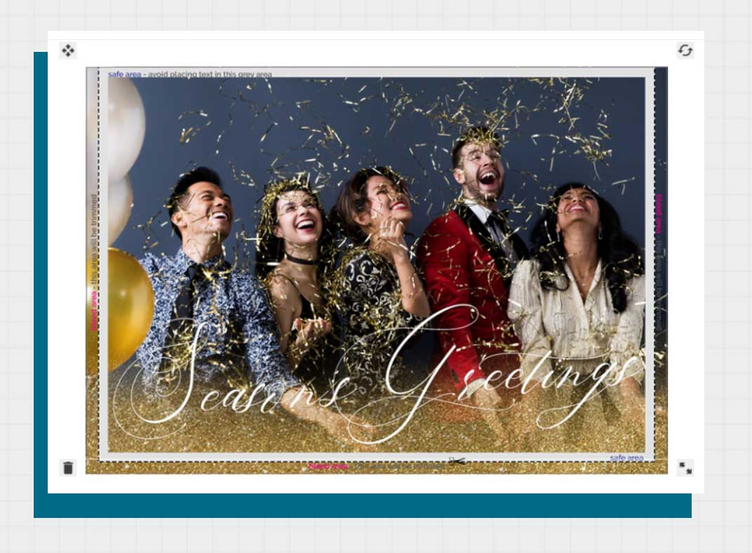 Add An Image Custom Business Greeting Cards