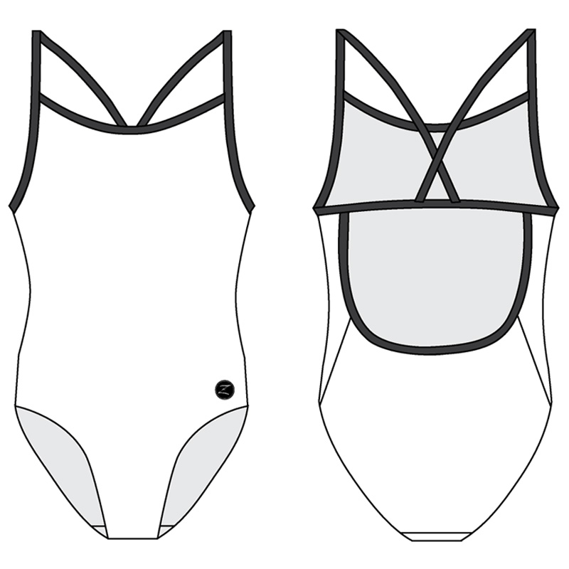 1CB - CROSS BACK ONE PIECE SINGLE