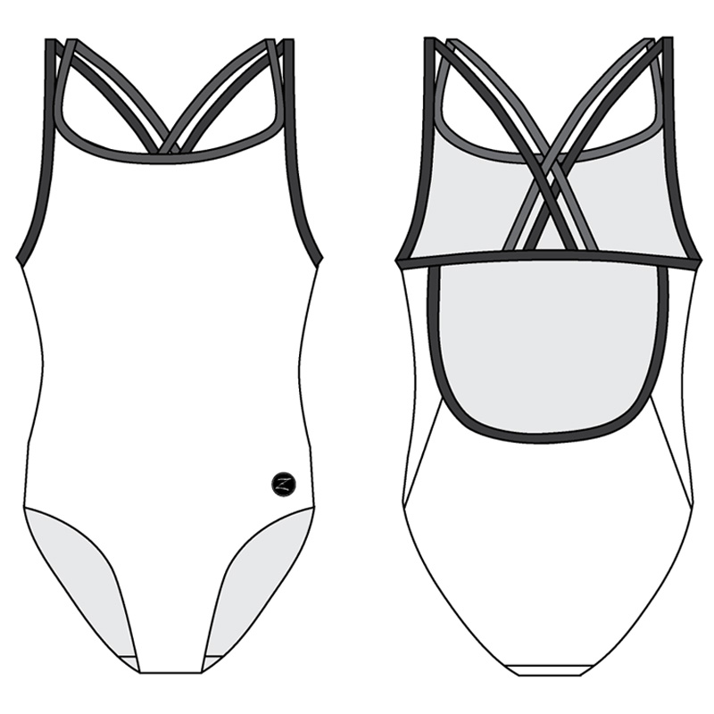 1CB - CROSS BACK ONE PIECE STANDARD
