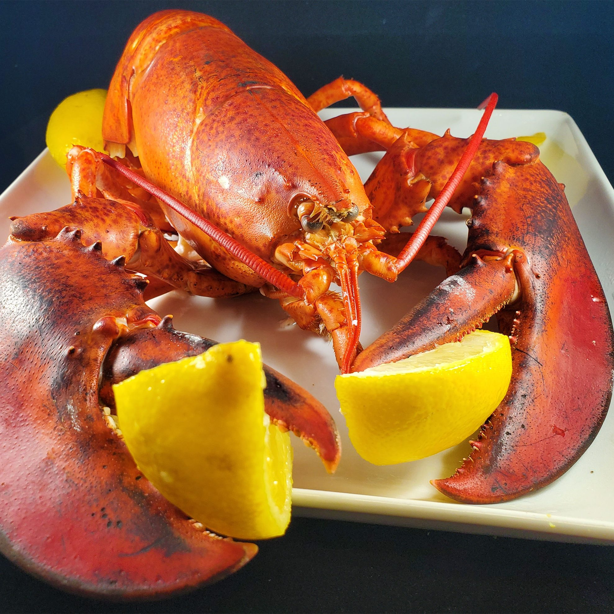 Boiled Lobster with Spicy Garlic Butter Dipping Sauce