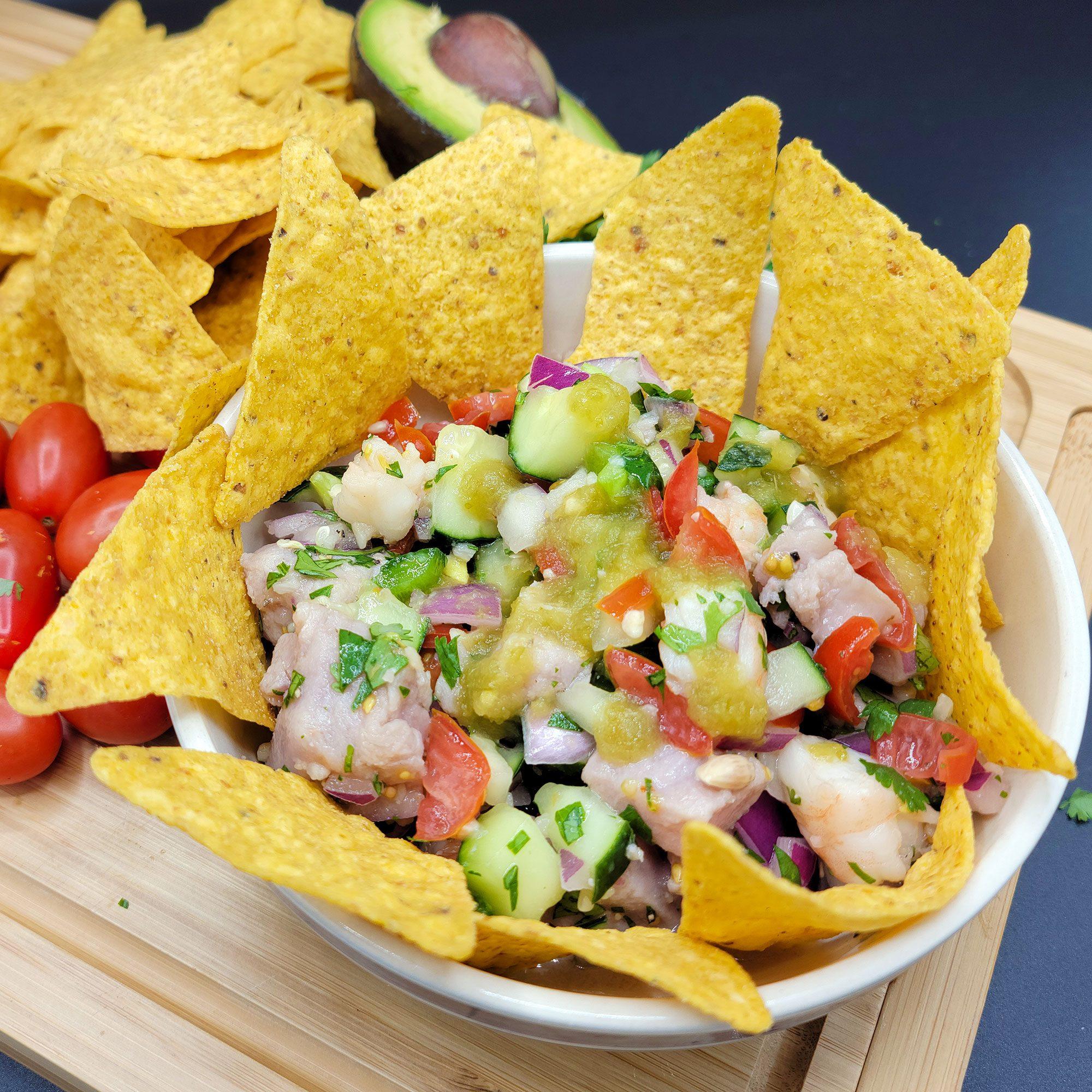 Sashimi Grade Tuna & Shrimp Ceviche