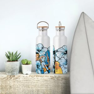 Streetart Society Eco Bottles featuring North Bondi mural by Silly Pear (Charlie Nivison)