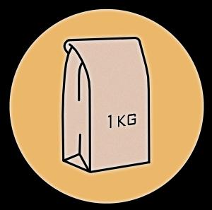 1kg bag symbol