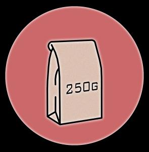 250g bag symbol