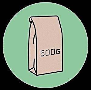 500g bag symbol
