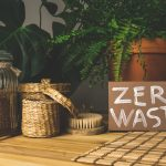 Zero waste concept. Reusable household items (cans, plates, bags). Environmental movement to reduce plastic waste.