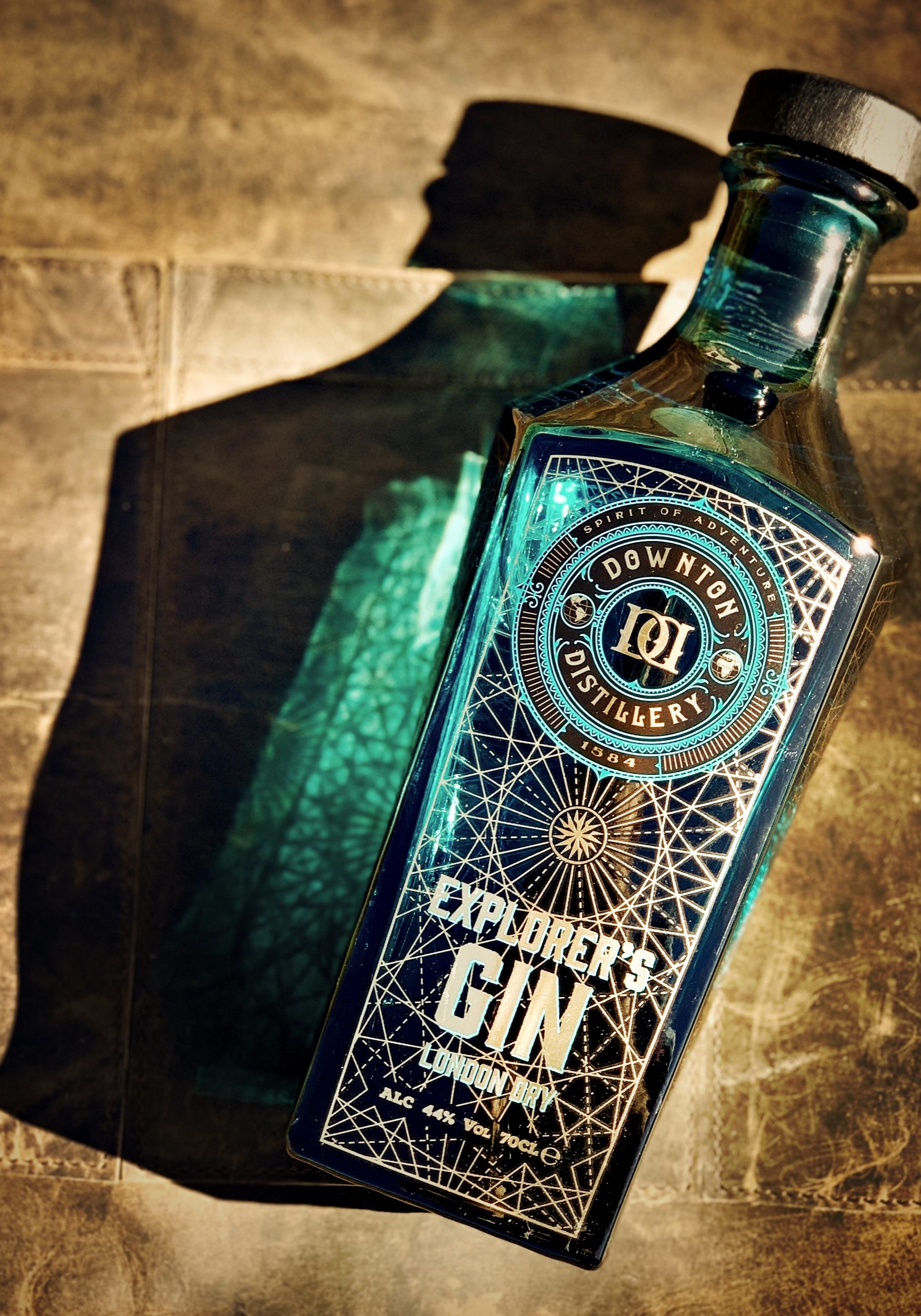 Explorer's Gin on Leather Apron