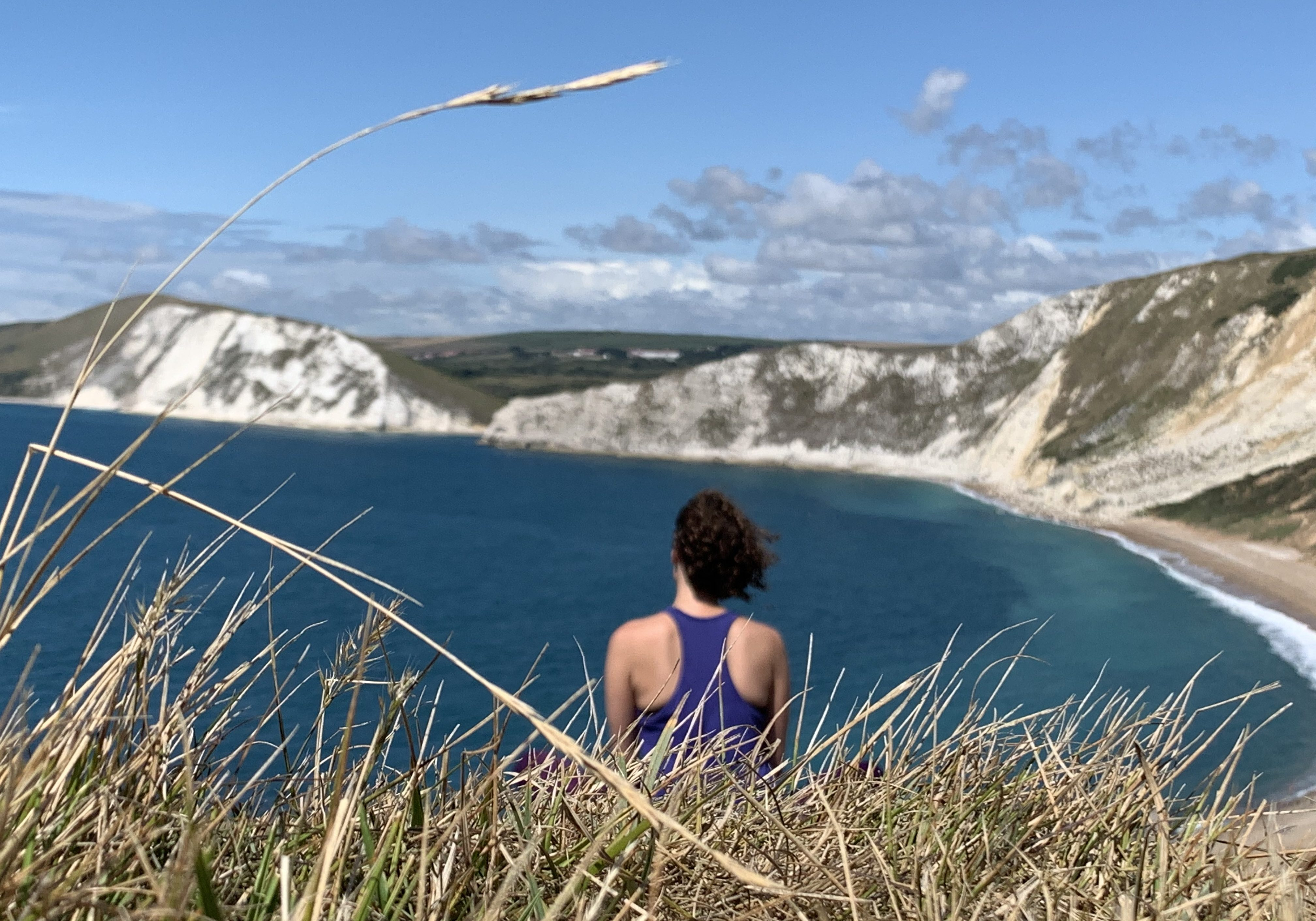 Walking into Worbarrow Bay, Dorset