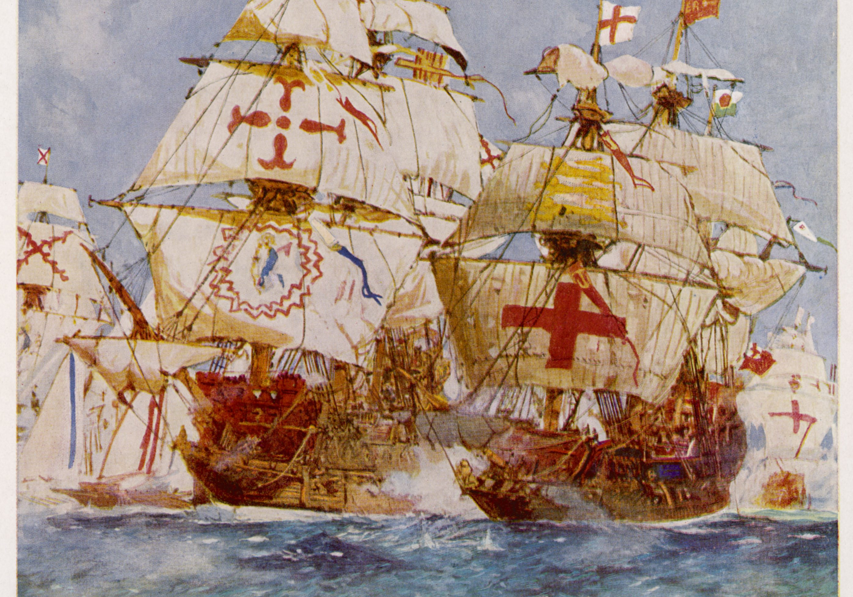 Ark Raleigh and Spanish Galleons