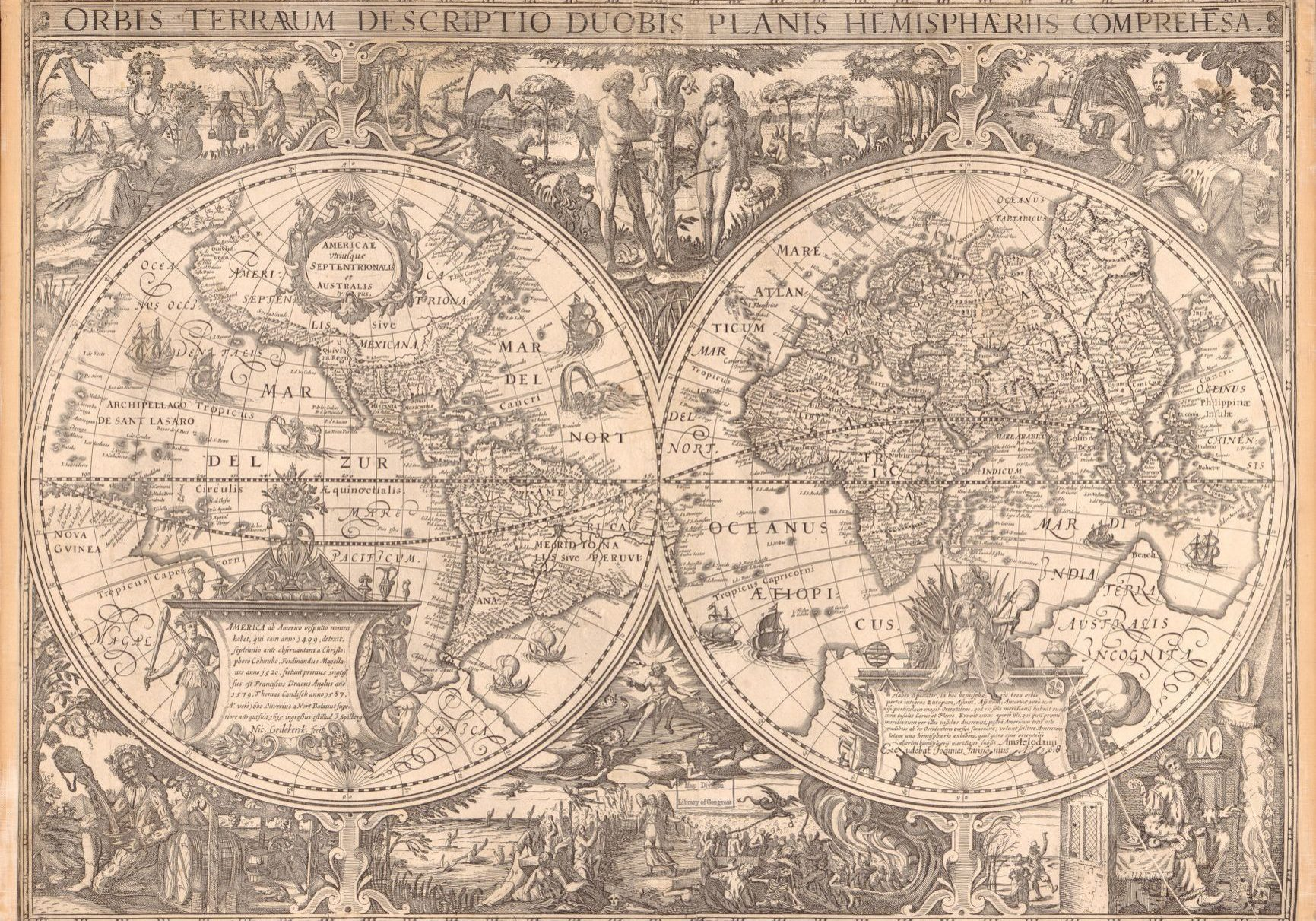 Map of the World 1600s