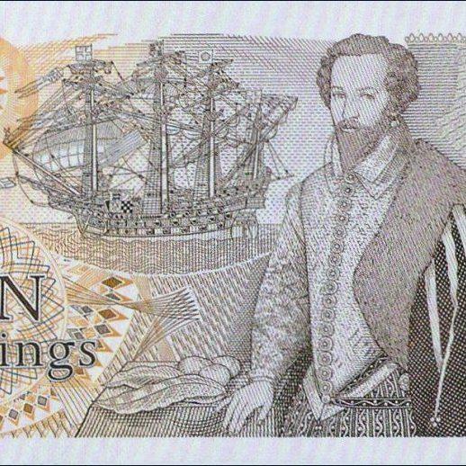 Ten Shillings Sir walter raleigh