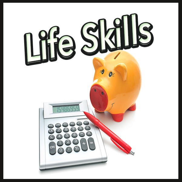Life skills learning math workbooks