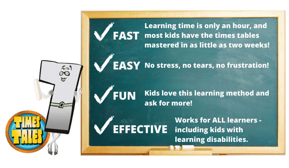 Times Tales makes memorizing the times tables fast, easy, fun and effective!