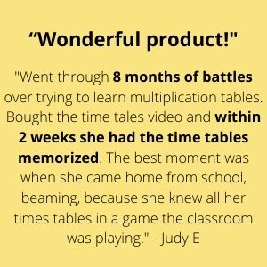 Wonderful product! Within 2 weeks, she had the times tables memorized!