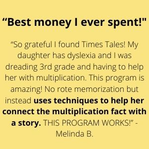 Best money I've ever spent! Uses techniquest to help her connect the multiplication fact with a story.