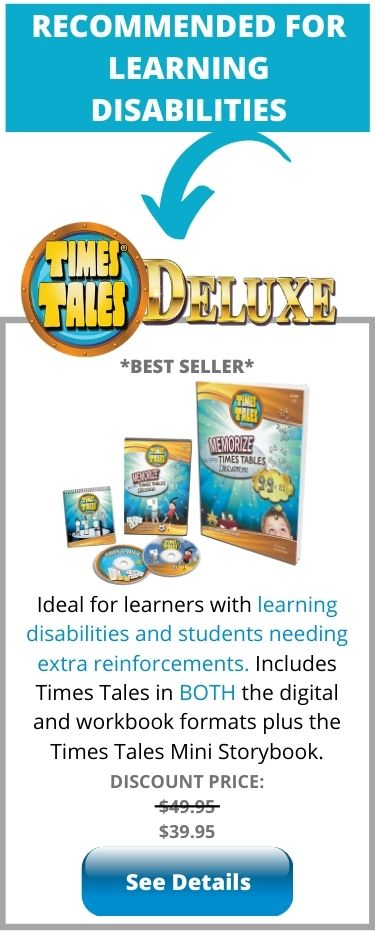 Times Tales Deluxe for Learning Disabilities - helps students with dyslexia and dyscalculia memorize the times tables fast