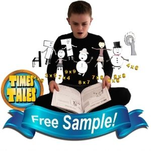 Times Tales Free Sample - Memorize the Upper 9 Times Tables in 15 Minutes!