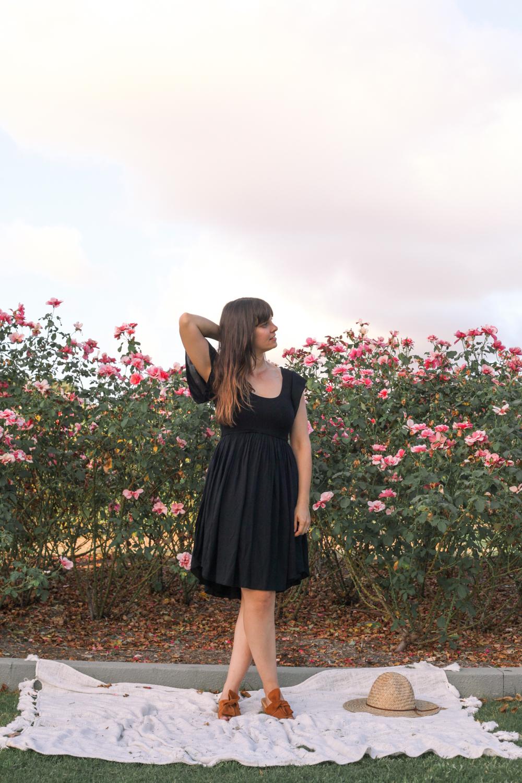 Goddess Dress black sleeve-6