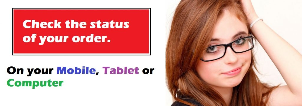 dr lens change order status page