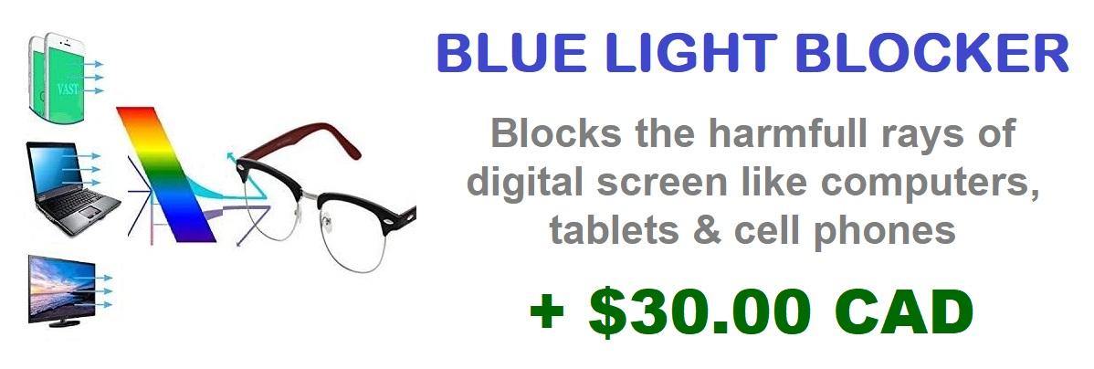 Blue blocker LENSES LIGHT