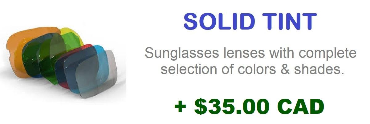 solid tint FOR HOYA progressive lenses LIGHT