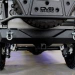 2017 jeep wrangler unlimited jk DV8 rear bumper with D-rings and hitch RBSTTB-04