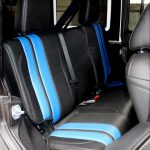 2017 jeep wrangler unlimited jk rear seat custom black leather with blue stripes