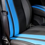 2017 jeep wrangler unlimited jk front seat custom black leather with blue stripes