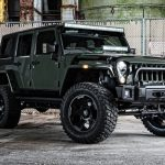 2016 jeep wrangler unlimited jk tank green front right side angle
