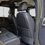 2016 jeep wrangler unlimited jk rear seat Custom black leather with green stitching