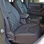 2016 jeep wrangler unlimited jk front seat Custom black leather seats with green stitching