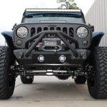2015 jeep wrangler unlimited jk black blue kevlar Smittybilt XRC 9,500lbs winch
