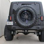 2015 jeep wrangler unlimited jk black blue kevlar rear angle