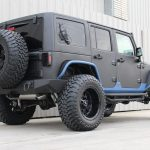 2015 jeep wrangler unlimited jk black blue kevlar lower right rear angle