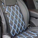 2015 jeep wrangler unlimited jk front seat Custom pattern black leather seats with blue inserts