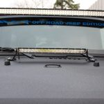 2015 jeep wrangler unlimited jk Rigid Industries hood mounted 20″ LED light bar