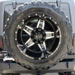 2015 jeep wrangler unlimited jk DV8 rear bumper with swing out spare tire carrier and hitch RBSTTB-01