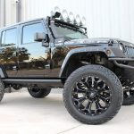 2015 jeep wrangler unlimited jk black right front angle