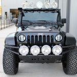 2015 jeep wrangler unlimited jk black front angle