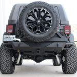 2015 jeep wrangler unlimited jk black rear angle