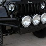 2015 jeep wrangler unlimited jk N-Fab R.S.P. front bumper with outer bars Pro Comp 9″ Halogen lights