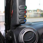 2015 jeep wrangler unlimited jk a pillar switch panel