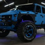 2016 jeep wrangler unlimited jk blue kevlar left front angle