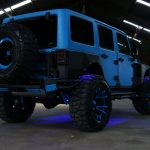 2016 jeep wrangler unlimited jk blue kevlar right rear angle