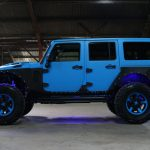 2016 jeep wrangler unlimited jk blue kevlar left side angle