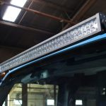 2016 jeep wrangler unlimited jk Rough Country upper windshield mount 70504 with DV8 50″ LED light bar B50CE300W3W