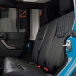 2016 jeep wrangler unlimited jk rear Custom black leather seats with blue stitching