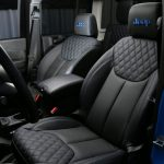 2016 jeep wrangler unlimited jk front Custom black leather seats with blue stitching